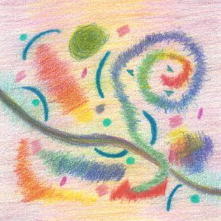 Festive Days Under the Sun, colored pencil drawing by Darren Olsen at The Draw