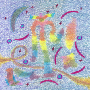 Jubilant Nights Under the Moon, colored pencil drawing by Darren Olsen at The Draw