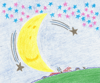 Moonlit Dreams, colored pencil drawing by Darren Olsen at The Draw