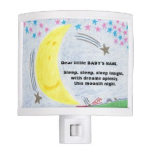 Moonlit Dreams Baby Nursery Nightlight, product at The Draw on Zazzle