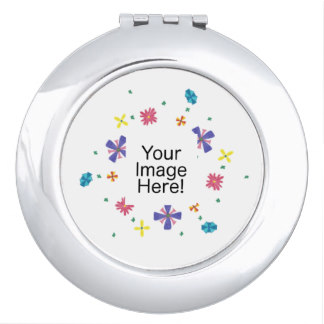 Ring of Flowers on Sharp White Mirror, product at The Draw on Zazzle