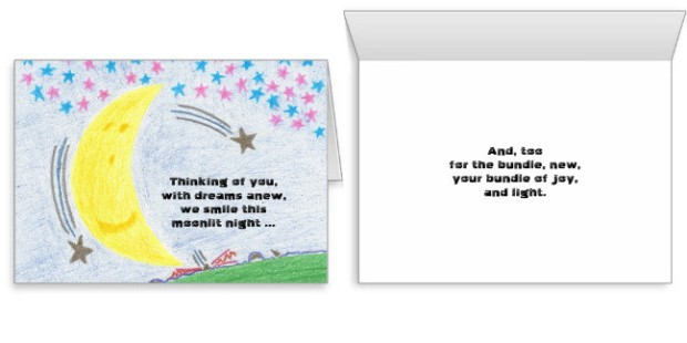 Moonlit Dreams New Baby Card, product at The Draw on Zazzle