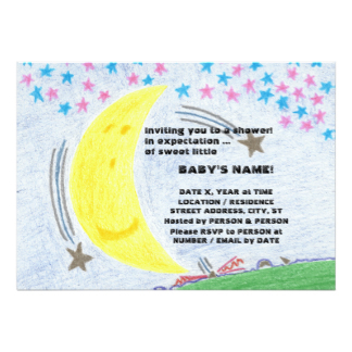 Moonlit Dreams Baby Shower Invitations, product at The Draw on Zazzle