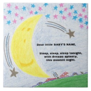 Moonlit Dreams Baby Nursery Tile, product at The Draw on Zazzle