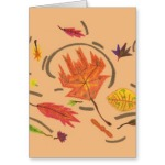 Essence of Autumn Leaves Thinking of You Card, product at The Draw on Zazzle