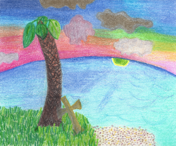 The Greater Shore, colored pencil drawing by Darren Olsen at The Draw