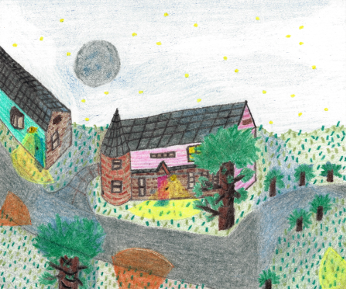 Magical Night, colored pencil drawing by Darren Olsen at The Draw