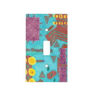 Colorful Circuits Circuit Board Light Switch Cover, product at The Draw on Zazzle