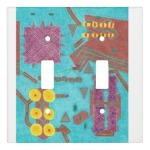 The original Colorful Circuits Circuit Board Light Switch Cover, as it appeared, by default, as a double toggle cover