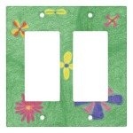 Flowers on Grassy Hills Double Rocker Cover, product at The Draw on Zazzle