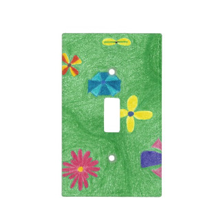 Flowers on Grassy Hills Single Toggle Cover, product at The Draw on Zazzle