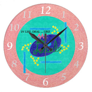 Ms. Deal Soda Branded Clock, product at The Draw on Zazzle