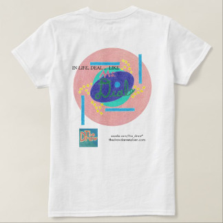 Ms. Deal Soda Branded Shirt, reverse side, product at The Draw on Zazzle