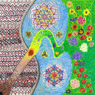 Nowruz, colored pencil drawing by Darren Olsen at The Draw