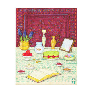 Noruz Haft Sin Table Canvas Print, product at Visions & Verses on Zazzle