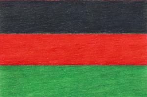Bandera v2, colored pencil drawing by Darren Olsen at The Draw
