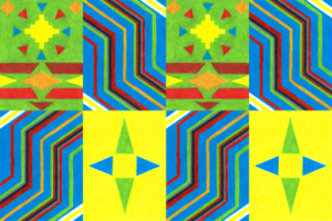 Kente Pattern v2, colored pencil drawing by Darren Olsen at The Draw