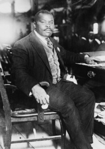 A photo of Marcus Garvey