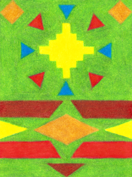 Kente 2, colored pencil drawing by Darren Olsen at The Draw