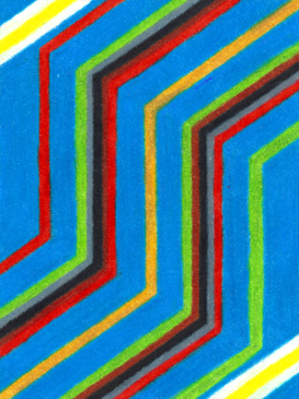 Kente 3, colored pencil drawing by Darren Olsen at The Draw