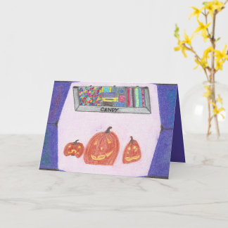 Candy Shop Stop Halloween Card for Kids, product at The Draw on Zazzle