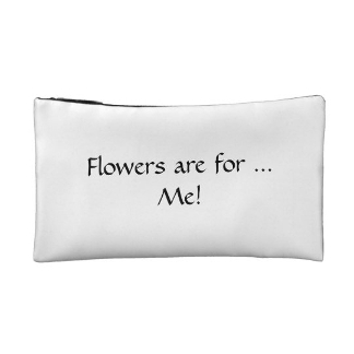 Flowers Are for Me! Accessory Bag, reverse side, product at The Draw on Zazzle