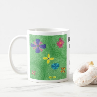 FLOWERS Keep the Place CALM Mug, left side, product at The Draw on Zazzle