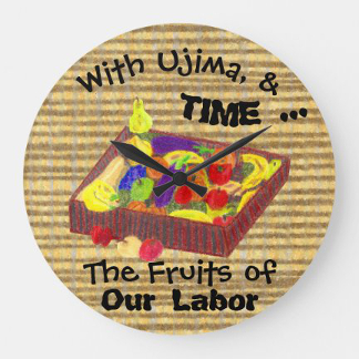 Gather 'Round Kwanzaa Creations Mazao Clock, product at The Draw on Zazzle