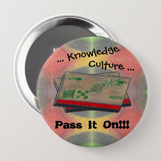 Gather 'Round Kwanzaa Creations Pass It On! Button, product at The Draw on Zazzle