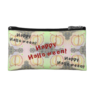 Happy Halloween Playfully Patterned Accessory Bag, product at The Draw on Zazzle