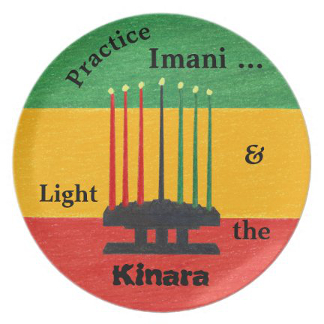 Kwanzaa Creations Imani Melamine Plate, product at The Draw on Zazzle