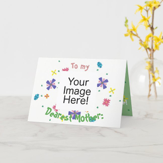 Lots of Flowers Pink and Green Mother's Day Card, product at The Draw on Zazzle