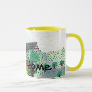 Magical Night Home Sweet Home Mug, right side, product at The Draw on Zazzle