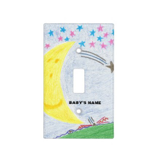 Moonlit Dreams Baby Nursery Light Switch Cover, product at The Draw on Zazzle