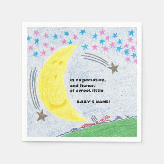 Moonlit Dreams Baby Shower Set of Napkins, product at The Draw on Zazzle