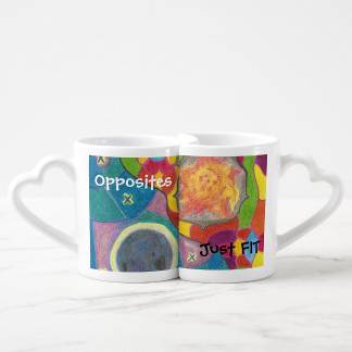 Opposites Just FIT Sun and Moon Lovers' Mugs, product at The Draw on Zazzle