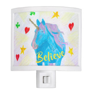 Self-Made Unicorn Inspirational Nightlight, product at The Draw on Zazzle