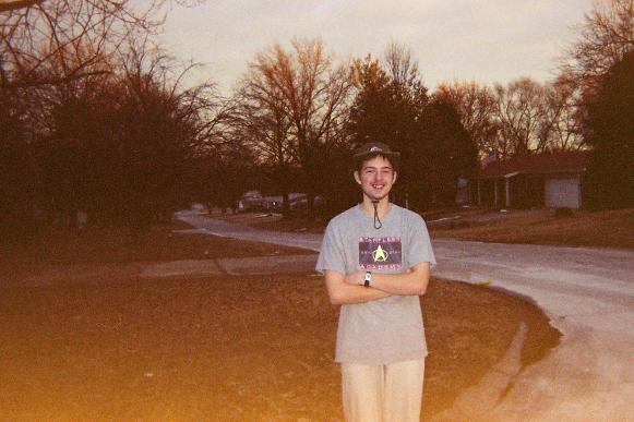 Darren posing in a nearby neighborhood circa late 2002