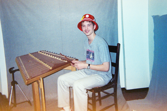 Darren posing with his dulcimer circa late 2002